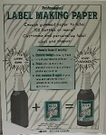WHITE LABEL-MAKING PAPER PK/18