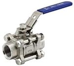 THREE PIECE STAINLESS STEEL BALL VALVE - 1/2