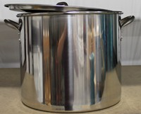 30 QUART STAINLESS STEEL BOILING POT W/LID